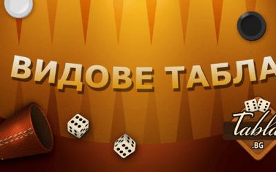 Видове игри на Табла